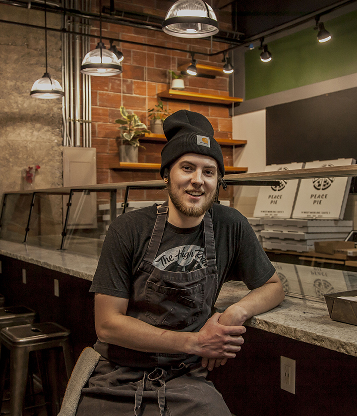 Isaac Houger Peace Pie Pizzeria Chef Owner Saranac Commons